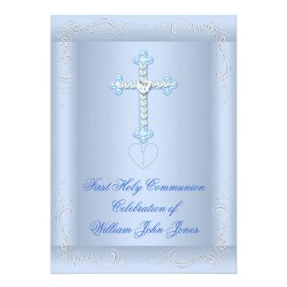 Primer azul de la plata de la comunión santa del m anuncio