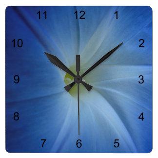 Primer azul divino de la correhuela reloj cuadrado