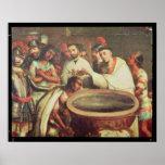 Primer bautismo de los indios de los Dominicans Impresiones