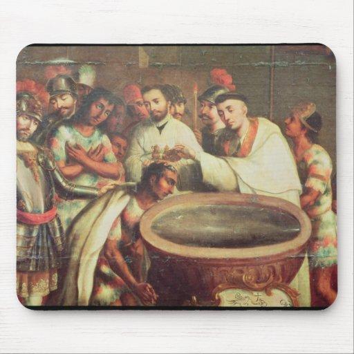 Primer bautismo de los indios de los Dominicans Alfombrilla De Ratones