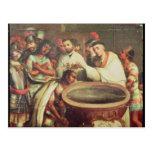 Primer bautismo de los indios de los Dominicans Tarjetas Postales