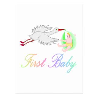 Primer bebé (cigüeña) postales