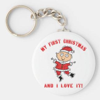 Primer bebé del navidad llaveros personalizados
