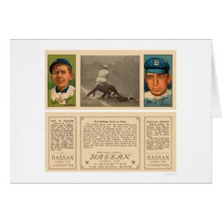Primer béisbol 1912 de los yanquis el revolver tarjeta de felicitación