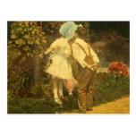 Primer beso de la primavera tarjetas postales