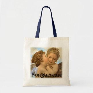 Primer beso por Bouguereau, ángeles del Victorian Bolsa De Mano