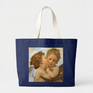 Primer beso por Bouguereau, ángeles del Victorian Bolsas