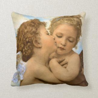 Primer beso por Bouguereau ángeles del Victorian Almohadas