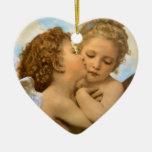 Primer beso por Bouguereau, ángeles del Victorian Adorno