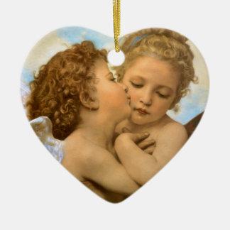 Primer beso por Bouguereau ángeles del Victorian Adorno