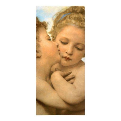 Primer beso por Bouguereau, ángeles del Victorian Lona Publicitaria