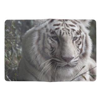 Primer blanco del tigre funda para libreta y libreta extra grande moleskin