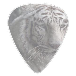Primer blanco del tigre púa de guitarra delrin blanco