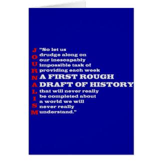 Primer borrador de la historia tarjeta de felicitación