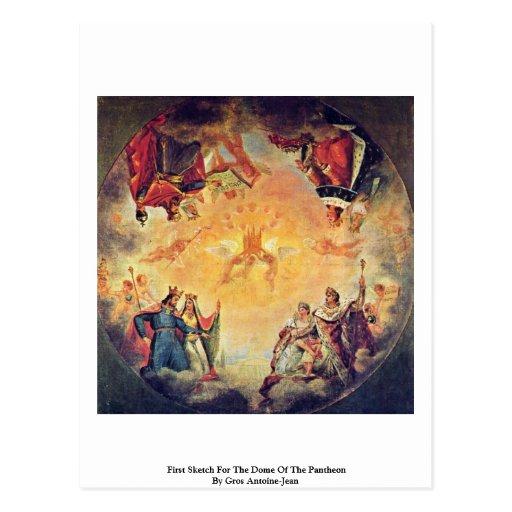 Primer bosquejo para la bóveda del panteón tarjeta postal