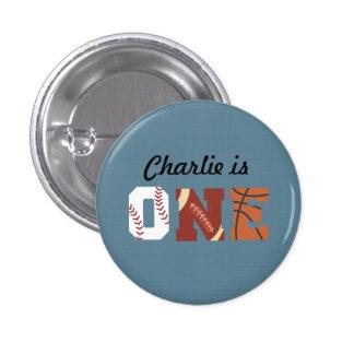 Primer botón All-star del cumpleaños Pin Redondo De 1 Pulgada