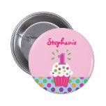 Primer botón del cumpleaños de la magdalena pin