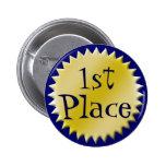 Primer botón del premio del lugar, personalizable pin