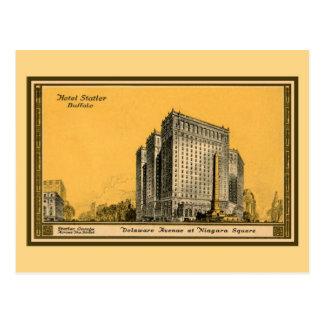 Primer) búfalo NY de Statler del hotel del vintage Postal