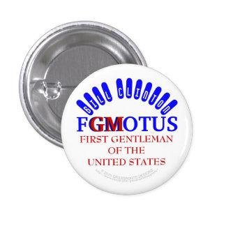 PRIMER CABALLERO de FGMOTUS BILL CLINTON (GM) de Pin Redondo 2,5 Cm
