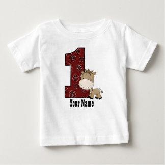 Primer caballo del vaquero del cumpleaños camisetas