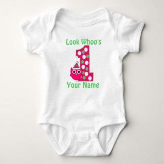 Primer camisa personalizada del chica de Birthdy