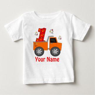 Primer camisa personalizada del cumpleaños camión