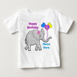 Primer camisetas personalizado del cumpleaños para playera