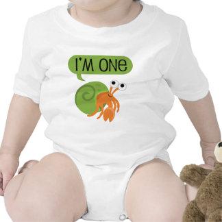 Primer cangrejo de ermitaño del cumpleaños de los  traje de bebé