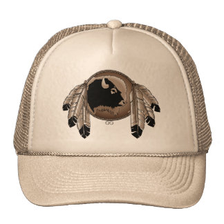 Primer casquillo de la fauna del búfalo del casqui gorras de camionero