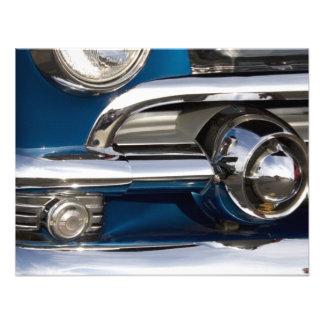 Primer clásico del cromo del coche anuncio personalizado