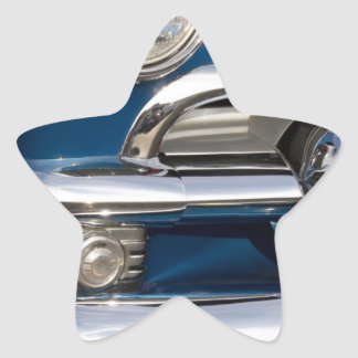Primer clásico del cromo del coche pegatina en forma de estrella