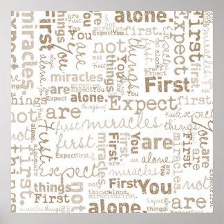 Primer collage de la palabra de las primeras cosas póster