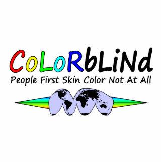 Primer color de piel de la gente daltónica en abso fotoescultura vertical