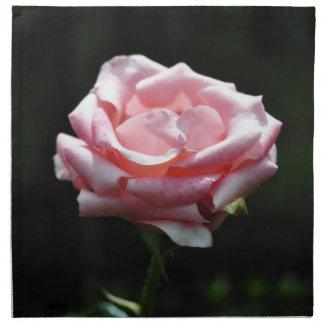 Primer color de rosa rosado hermoso servilletas de papel