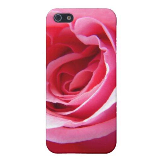 primer color de rosa rosado iPhone 5 funda