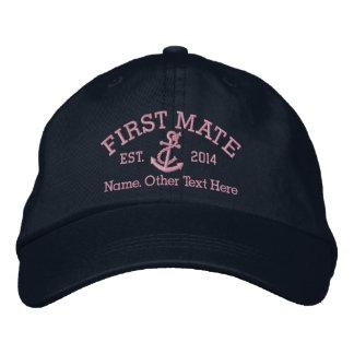 Primer compañero con el ancla personalizada gorras bordadas