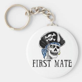 Primer compañero del pirata tuerto llaveros personalizados