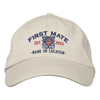 Primer compañero personalizado de la bandera gorra de beisbol bordada