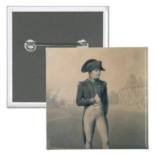 Primer cónsul de Napoleon Bonaparte en Malmaison Pin Cuadrado