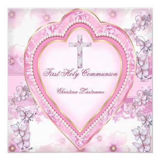 Primer corazón del rosa de la comunión santa del