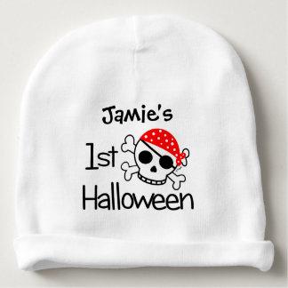 Primer cráneo del pirata de Halloween del bebé Gorrito Para Bebe