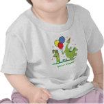 Primer cumpleaños de Dino personalizado Camisetas