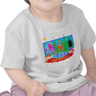 Primer cumpleaños de la aventura submarina camiseta