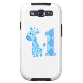 Primer cumpleaños de la jirafa azul galaxy s3 protectores