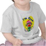 """Primer cumpleaños del bebé """"soy un"""" diseño del mon camisetas"""