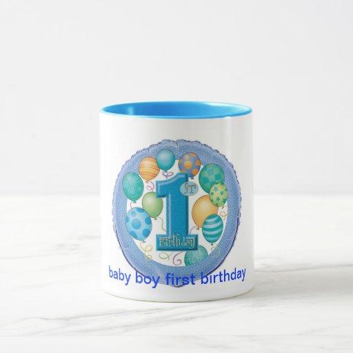 primer cumpleaños del bebé taza