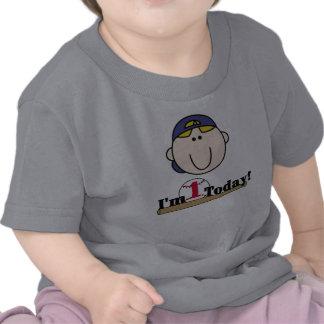 Primer cumpleaños del béisbol rubio camiseta