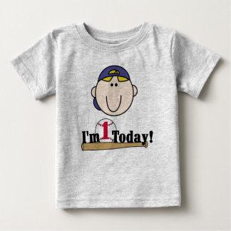Primer cumpleaños del béisbol rubio t shirts