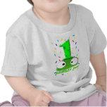 primer cumpleaños del monstruo divertido lindo del camiseta